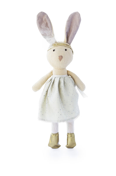 Hazel Village Juliette Rabbit in Silver Party Skirt