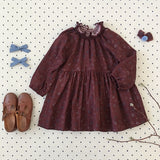 Soor Ploom Antoinette Dress, Prairie Print, Beetroot