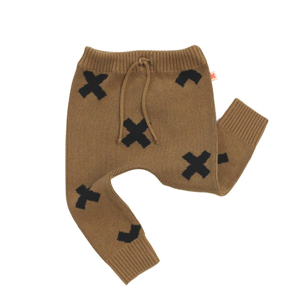 Tiny Cottons Knit Logo Pant - Brown