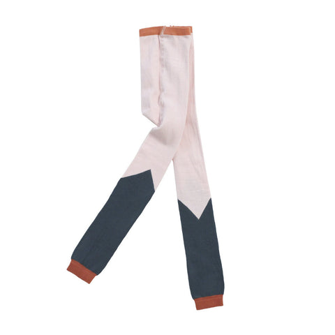 Tiny Cottons Color Block Leggings / Pink and Terracotta