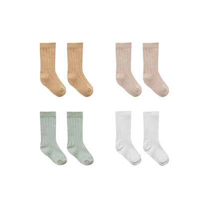Quincy Mae Baby Socks - 4 pack