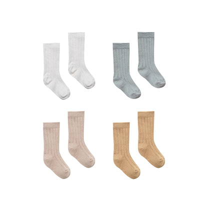 Quincy Mae Baby Socks - Ivory, Dusty Blue, Rose, Honey