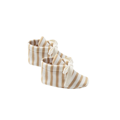 Quincy Mae Baby Booties in Honey Stripe