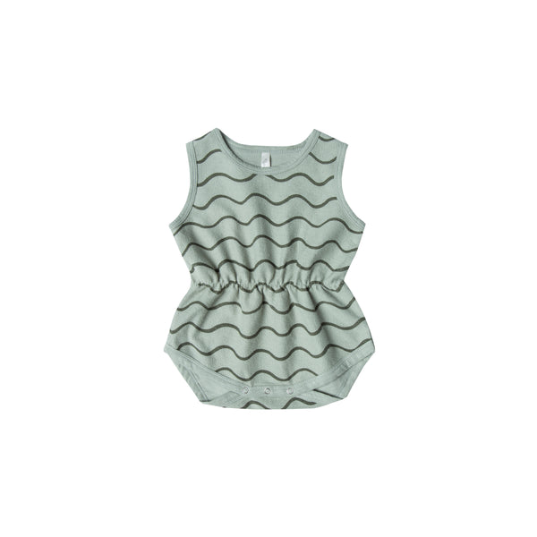 Rylee & Cru Rolling Waves Cinch Playsuit for Baby