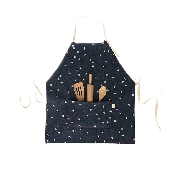 Odette Williams Denim Silver Stars Apron Set