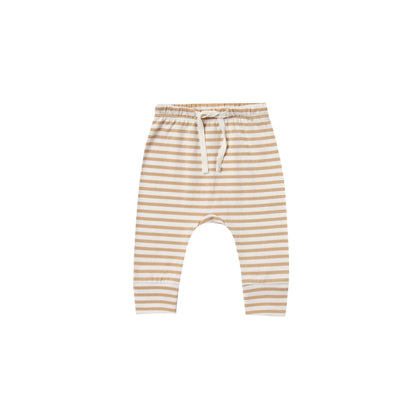 Quincy Mae Drawstring Pant in Honey Stripe