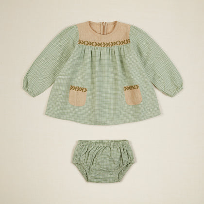 Apolina Baby Edith Dress Set  - Worker Check