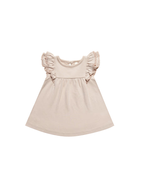 Quincy Mae Flutter Dress in Rose