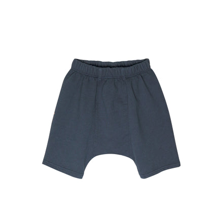 Go Gently French Terry Panel Short in Indigo