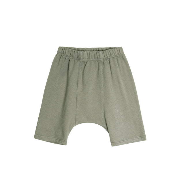 Go Gently French Terry Panel Short in Thyme