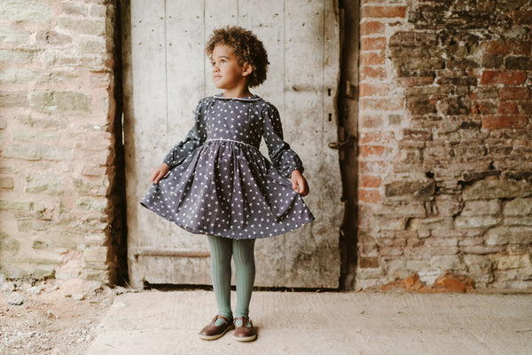 Little Cotton Clothes Dorothy Dress in Spot Petal
