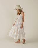 Rylee & Cru Womens Tiered Maxi Dress in Stripe