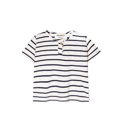 Go Gently Jersey Henley in Stripe