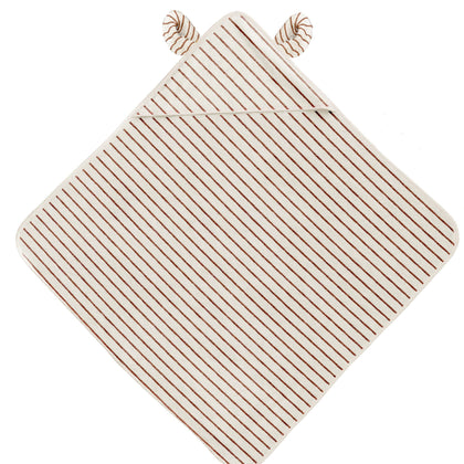 Konges Sloejd Striped Terry Towel in Striped Biscuit