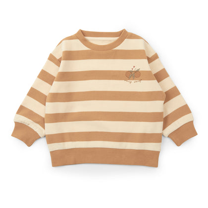 Konges Sloejd Lou Sweatshirt in Striped Biscuit