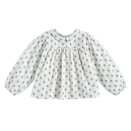 Little Cotton Clothes Emma Blouse in Upsy Daisy Floral