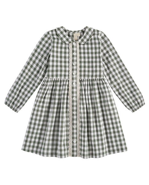 Little Cotton Clothes Agatha Dress in Gingham