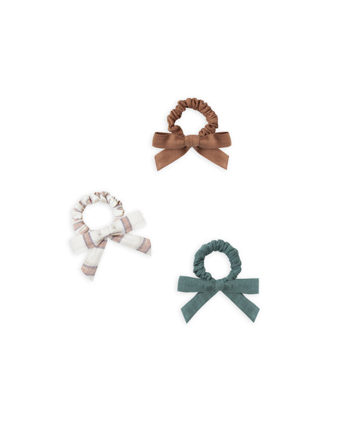Rylee & Cru Little Bow Scrunchie Set in Spruce