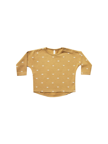Quincy Mae LS Baby Tee in Honey