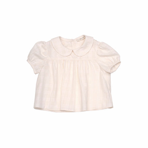 Soor Ploom Nellie Blouse in White Out Plaid