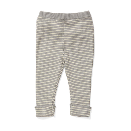 Konges Slojd Meo Cotton Pants in Powder Blue Stripe