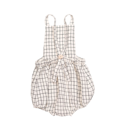 Soor Ploom Oona Romper in Graph Paper