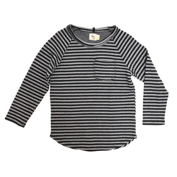 Nico Nico Perry Striped LS Tee in Black
