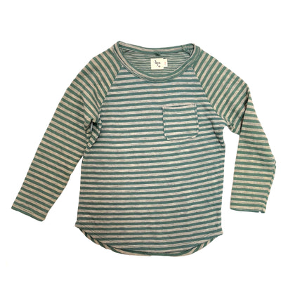 Nico Nico Perry Striped LS Tee in Moss