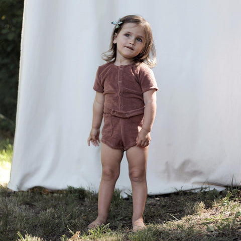 Soor Ploom Pippa Playsuit in Henna