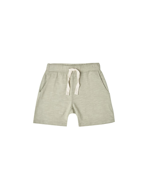 Rylee & Cru Boys Slub Short in Sage