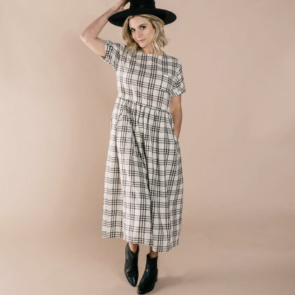 Rylee & Cru Kat Dress in Check
