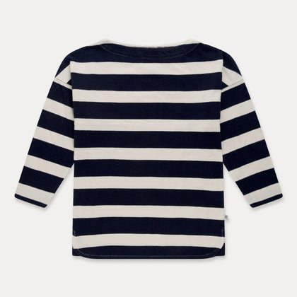 Repose AMS Boatneck Tee in Marine Stripe