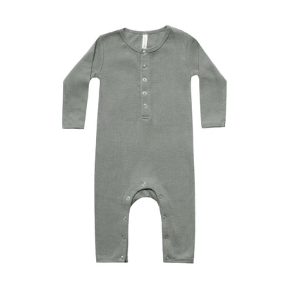 Quincy Mae Ribbed Jumpsuit in Eucalyptus