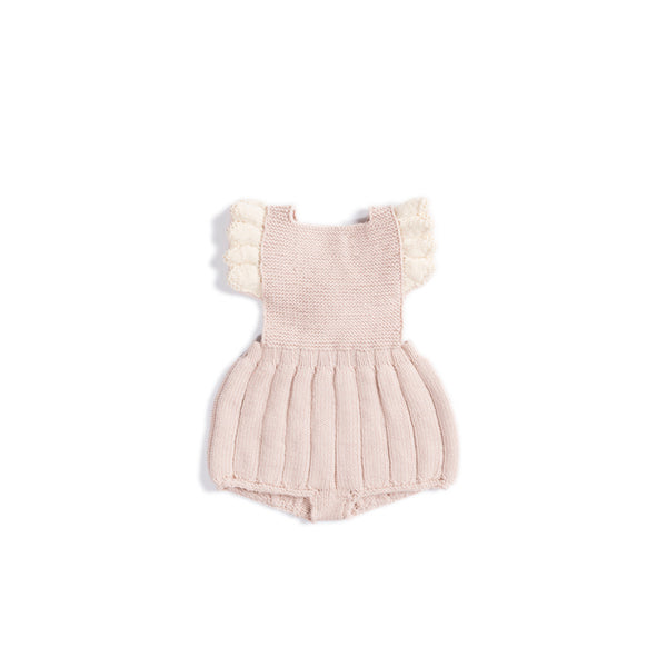 Misha and Puff Ruffle Romper in Dune/Snow
