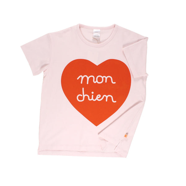 Tiny Cottons Mon Chien Heart SS Oversized Tee