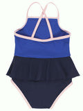 Tiny Cottons Frill Swimsuit / Dark Navy