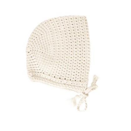 Minikane Baby Doll Crochet Bonnet in Ecru