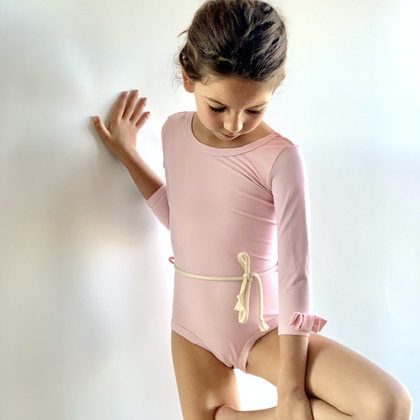 Casa Blue LONG SLEEVE AMALFI SWIMSUIT IN Fairy Pink