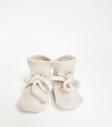 Hvid Booties in Cream