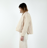 Micaela Greg Dune Quilted Jacket in Pearl