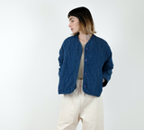Micaela Greg Dune Quilted Jacket in Indigo