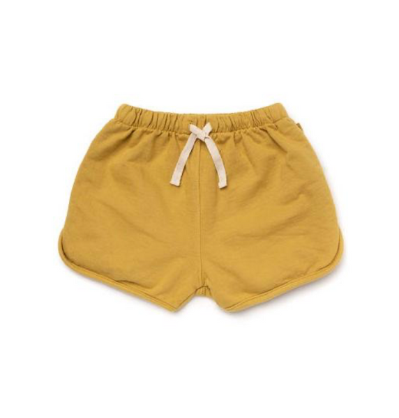 Les Gamins Cotton Terry Track Short Chartreuse