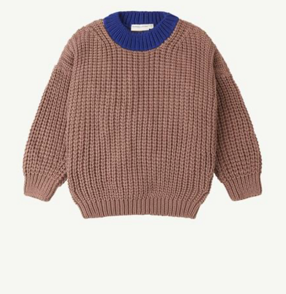 Summer & Storm Chunky Pullover - Coco & Royal Blue