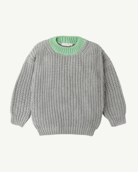 Summer & Storm Chunky Pullover - Grey & Meadow