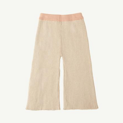 Summer & Storm Ribbed Knit Pant - Natural & Coral