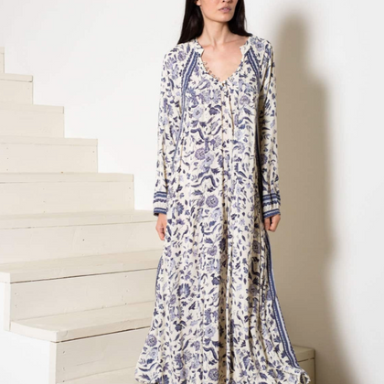 Natalie Martin Fiore Dress in Blue Wildflower
