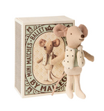 Maileg Little Brother Dancer Mouse in Box