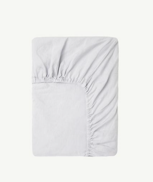 Summer & Storm Fitted Crib Sheet in Powder Blue