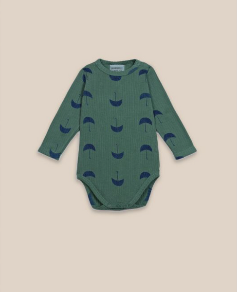 Bobo Choses Umbrella Onesie in Green