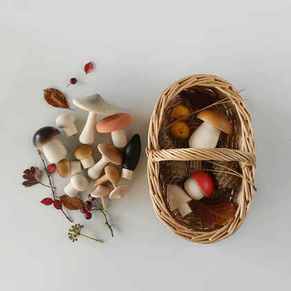 Moon Picnic Mushroom Picnic Basket - Light